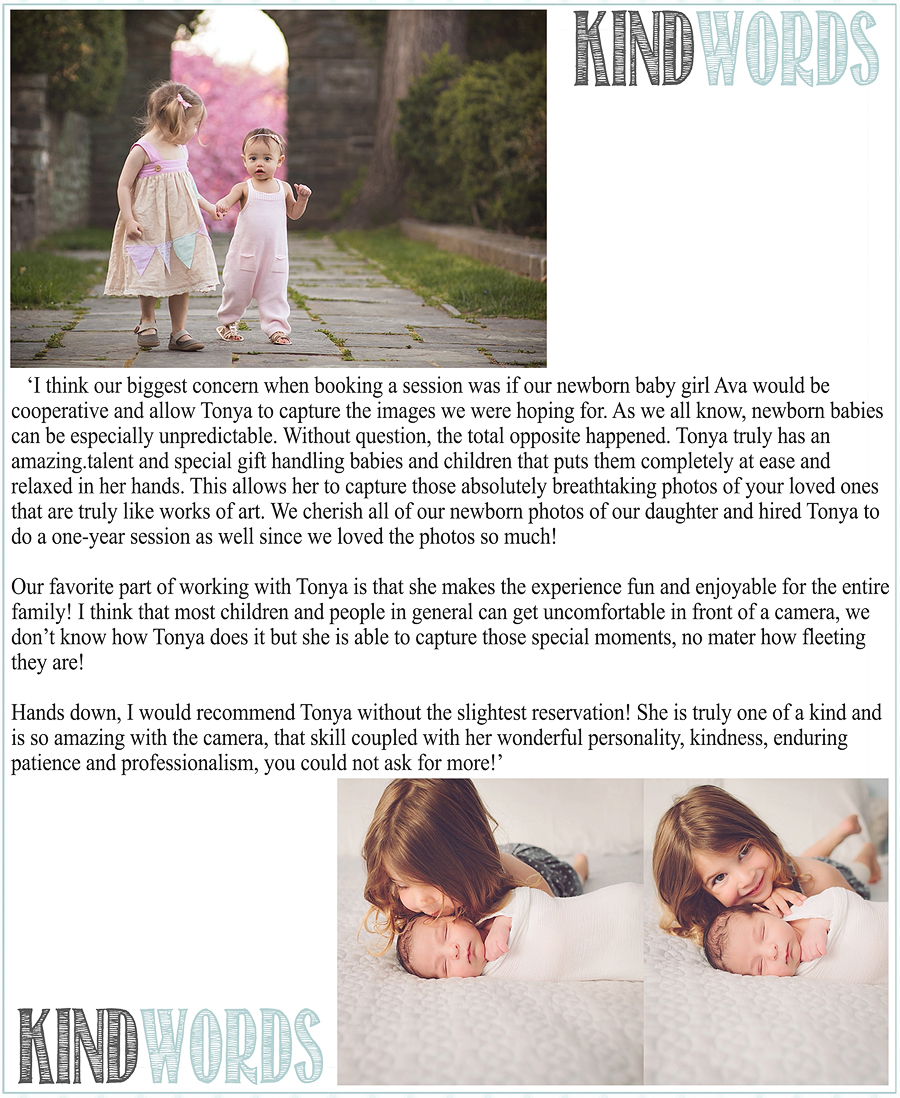 Kind Words | Tonya Teran Photography, Best Maryland Newborn, Baby, and Family Photography