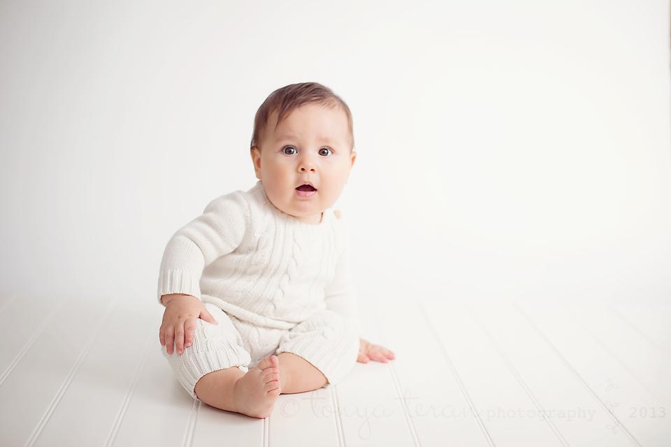 6 month old studio session   Tonya Teran Photography