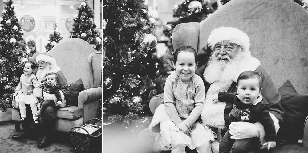 baby and big sister visit Santa | Tonya Teran Photography, Rockvile, MD Baby Photographer