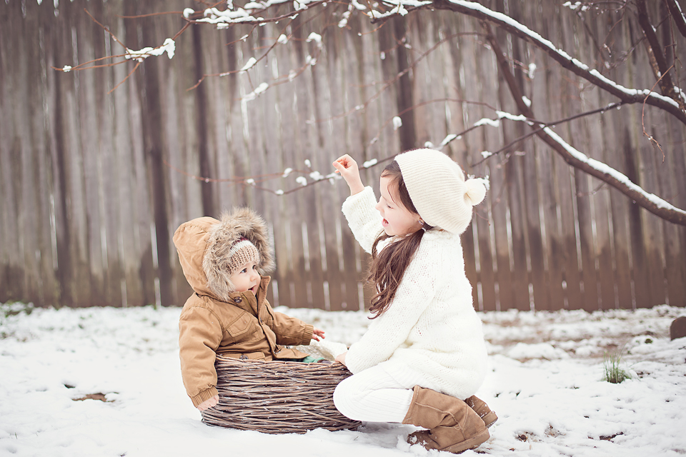 baby in the snow | Tonya Teran Photography, Rockvile, MD Baby Photographer