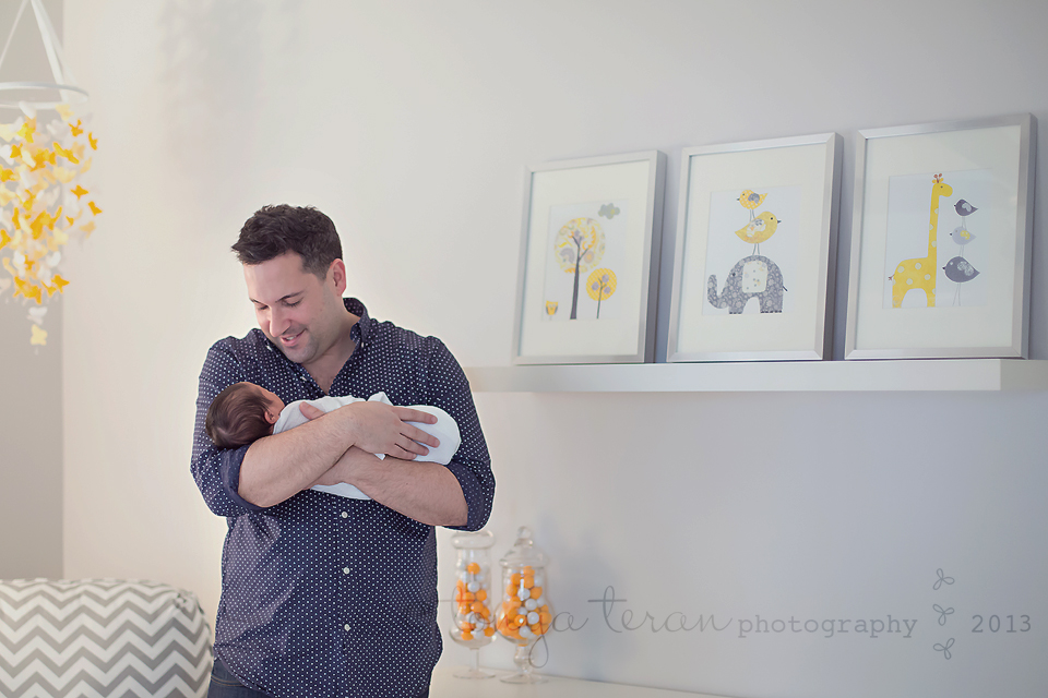 gray and yellow nursery | Rockville, MD newborn lifestyle photographer Tonya Teran Photography