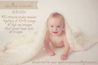 Rockville, MD Studio Mini Session Photographer | Tonya Teran Photography