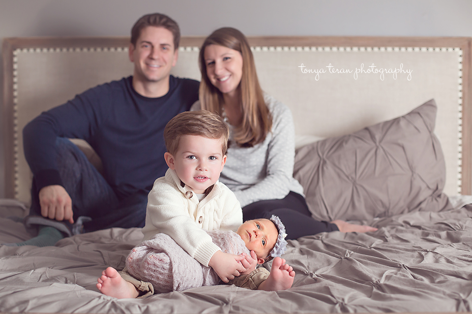 Family with newborn and toddler | Rockville, MD Newborn Baby and Family Photographer