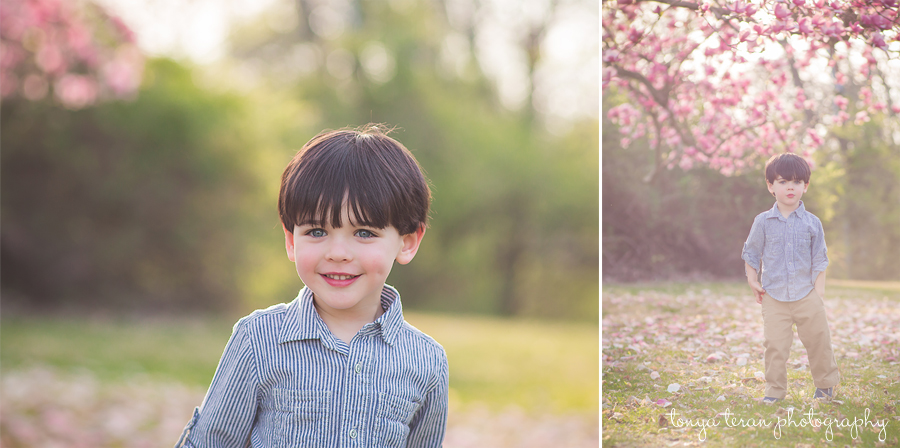 Cherry blossom family session | Rockville, MD Newborn Baby and Family Photographer - Tonya Teran Photography