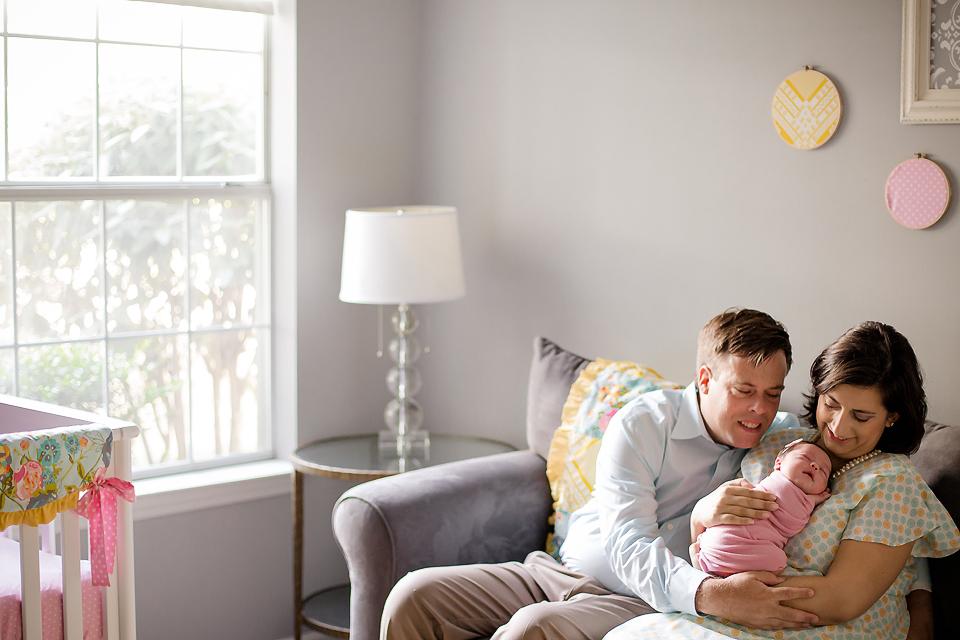 Lifestyle newborn pose - Tonya Teran Photography - Bethesda, MD Newborn Baby and Family Photographer