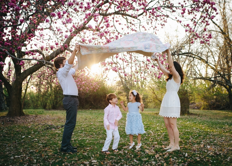 Spring Blossom Family Photo Session | Tonya Teran Photography, Bethesda, MD Newborn, Baby, and Family Photographer
