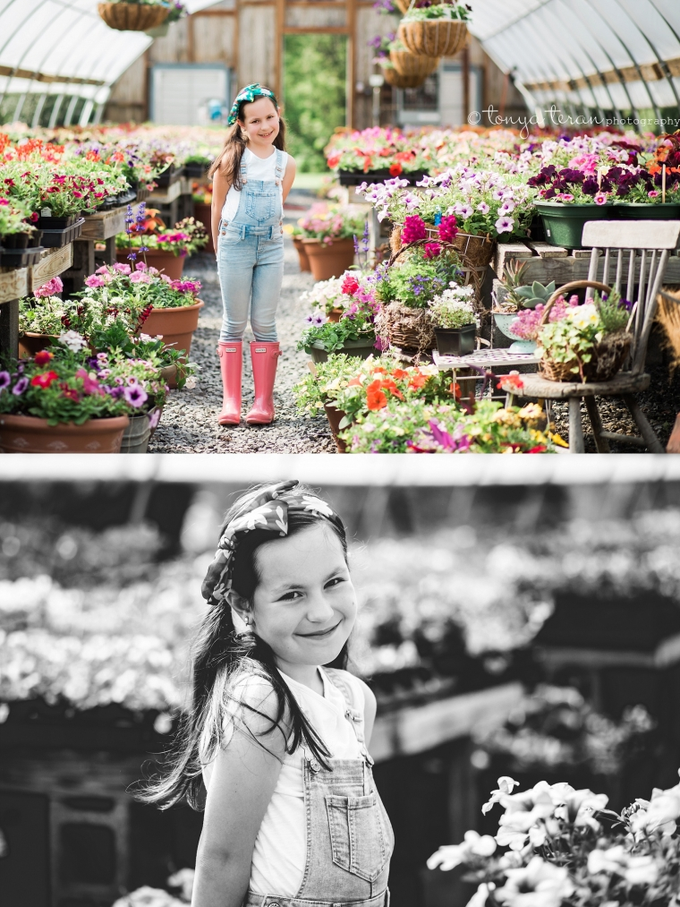 Spring Flowers Greenhouse Session | Tonya Teran Photography, Frederick, MD Newborn, Baby and Family Photographer
