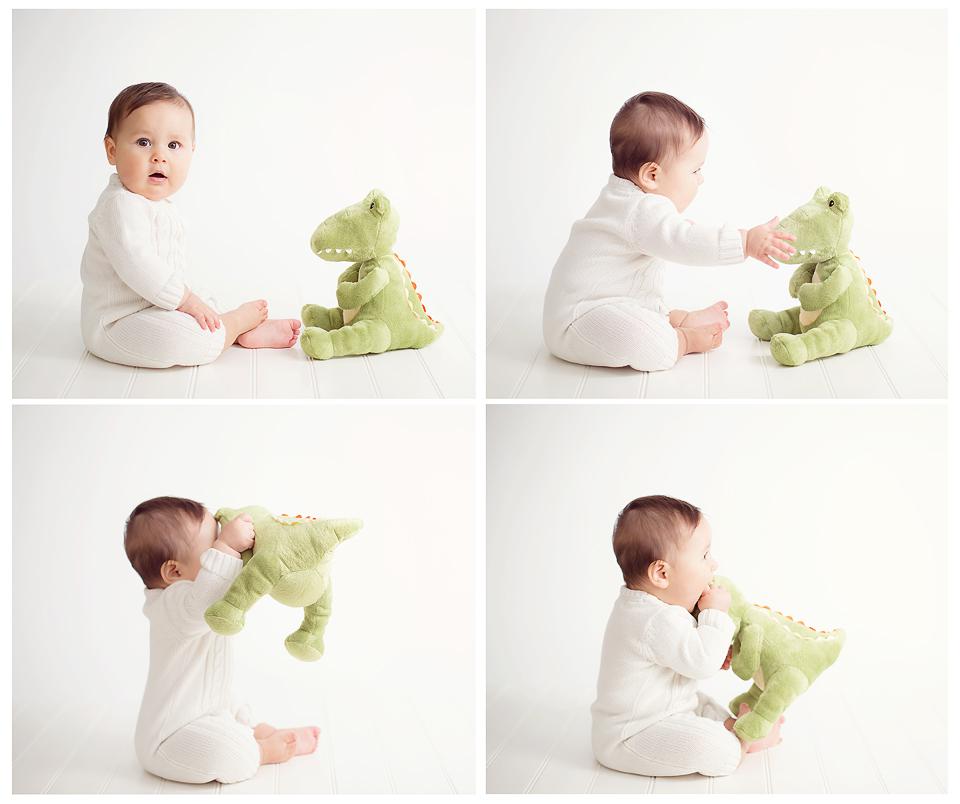 baby with stuffed animal | Tonya Teran Photography