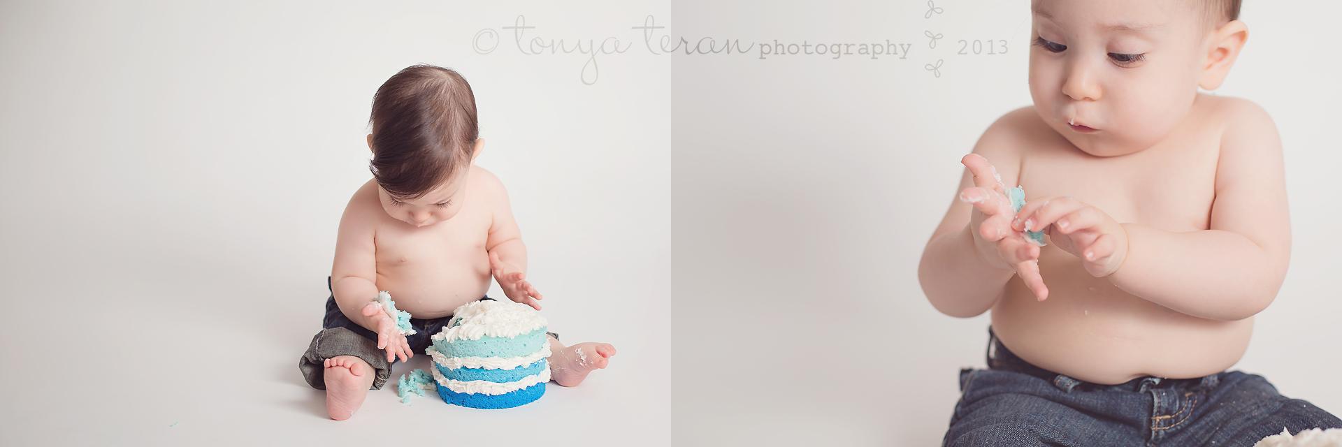 Rockville, MD Baby Birthday Cake Smash Photographer | Tonya Teran Photography