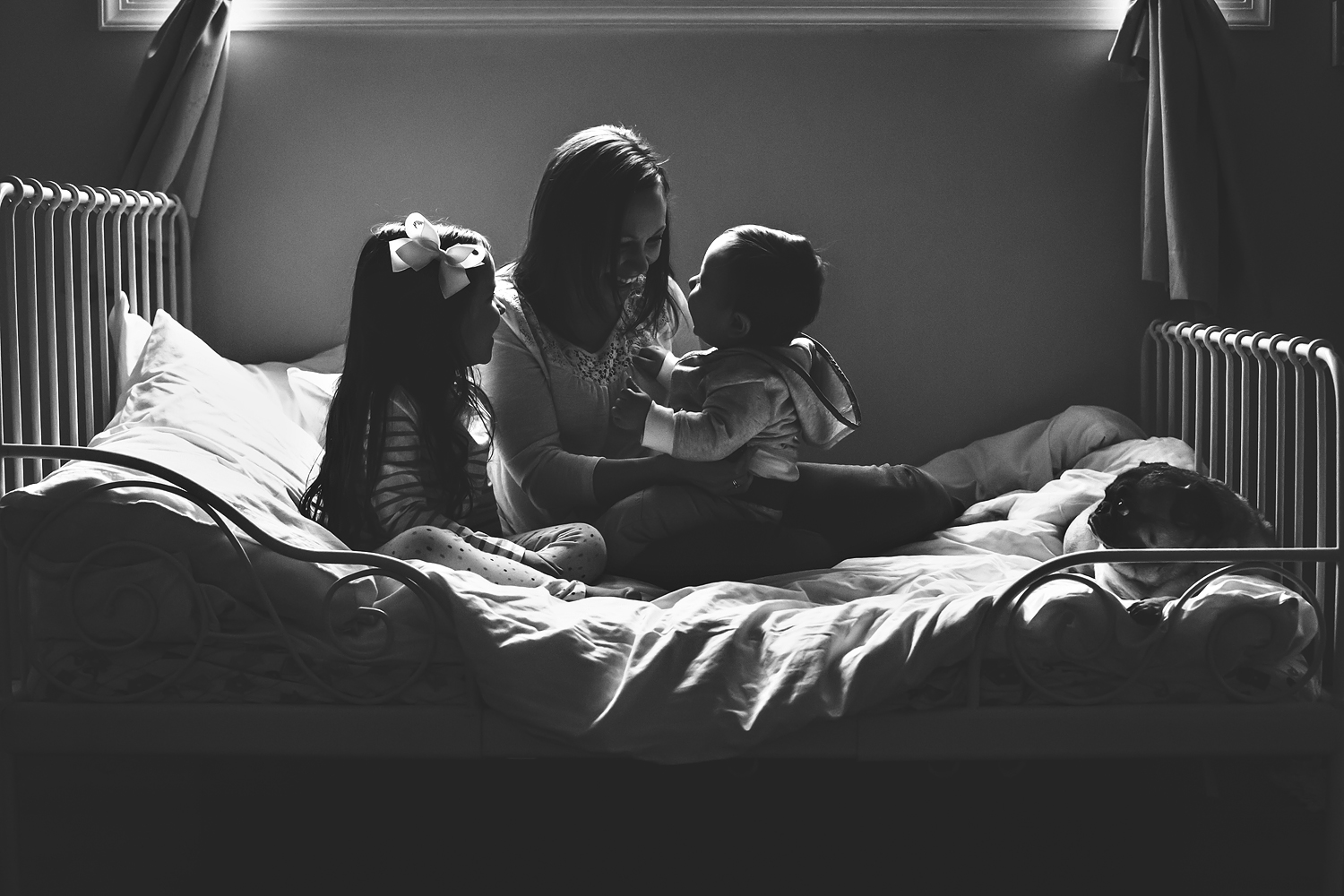 Self portrait with kids | Tonya Teran Photography - Rockville, MD Newborn Baby and Family Photography