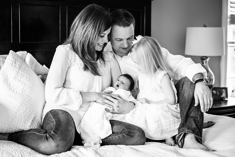 Sleeping newborn and family pose | Rockville, MD Newborn Baby and Family Photographer - Tonya Teran Photography