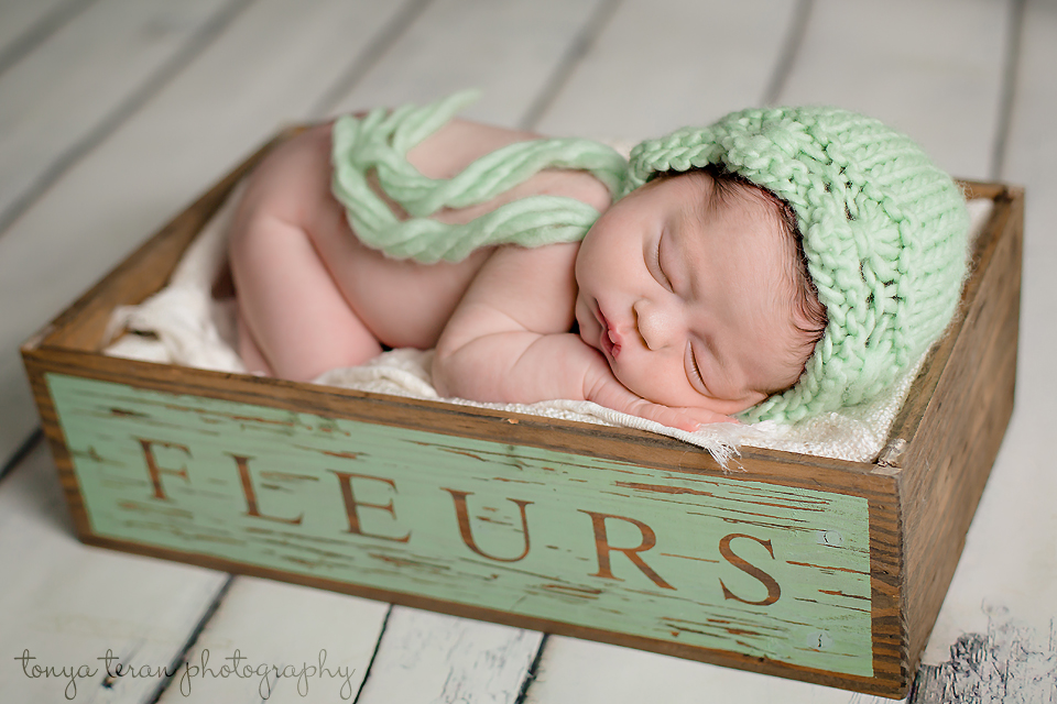 Sleeping newborn pose - Tonya Teran Photography - Bethesda, MD Newborn Baby and Family Photographer
