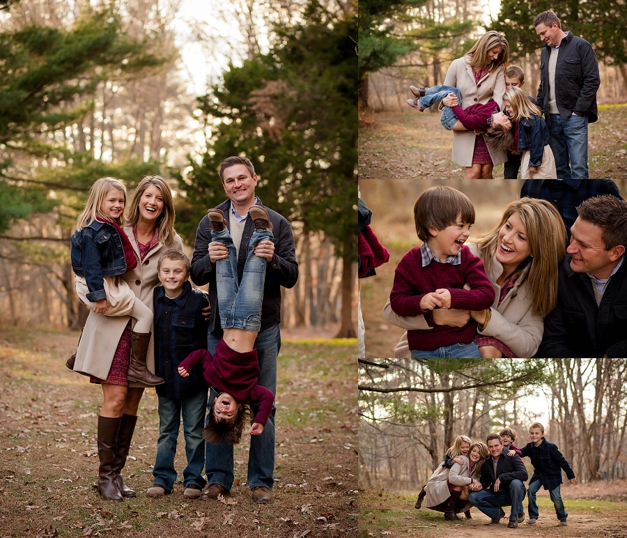 Winter family session in the woods | Tonya Teran Photography - Bethesda, MD Newborn Baby and Family Photography