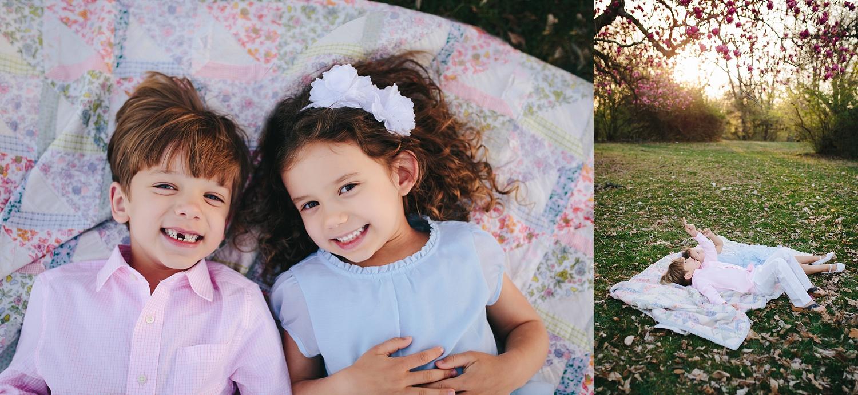 Spring Blossom Family Photo Session | Tonya Teran Photography, Bethesda, MD Newborn, Baby, and Family Photographer