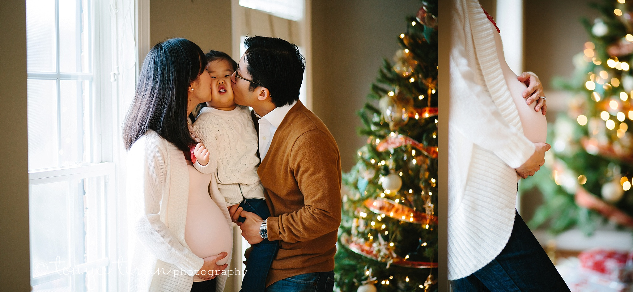 Lifestyle Family Christmas Maternity Photo Session | Tonya Teran Photography, Gaithersburg, MD Newborn, Baby, and Family Photographer
