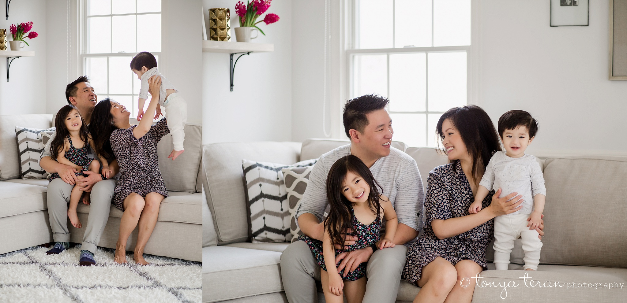 In-home Mini Family Photo Session | Tonya Teran Photography, McLean, VA #1 Best Newborn, Baby, and Family Photographer