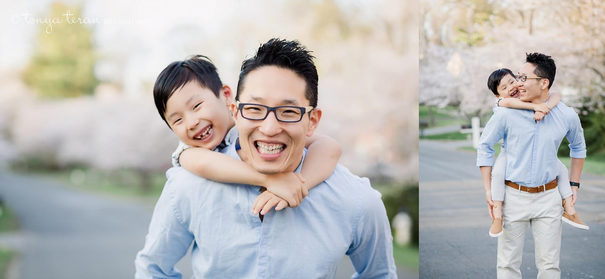 Cherry Blossom Tree Session | Tonya Teran Photography, Potomac, MD Newborn, Baby and Family Photographer