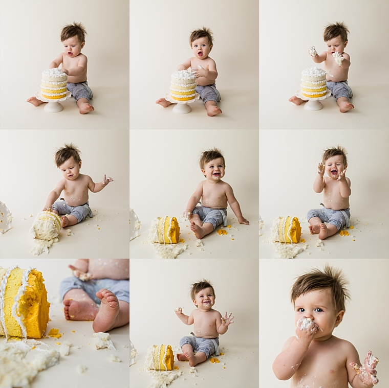 1st Birthday Cake Smash Photo Session | Tonya Teran Photography, Bethesda, MD Newborn, Baby, and Family Photographer