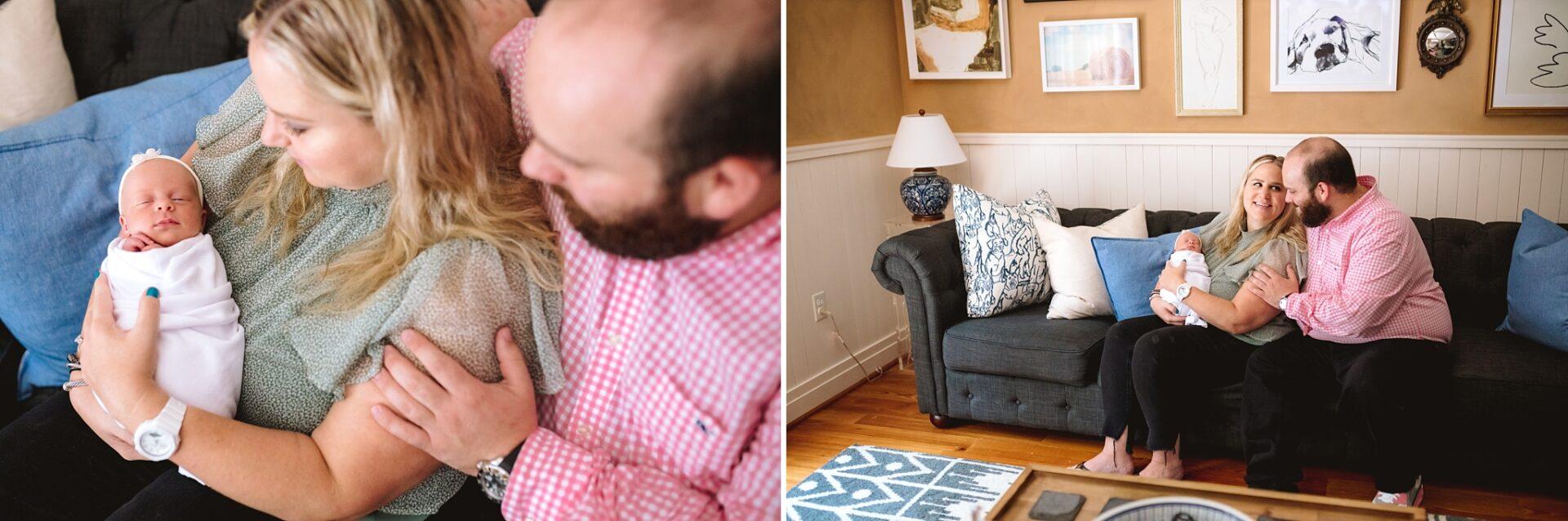 in-home lifestyle newborn session - dc md va newborn photographer